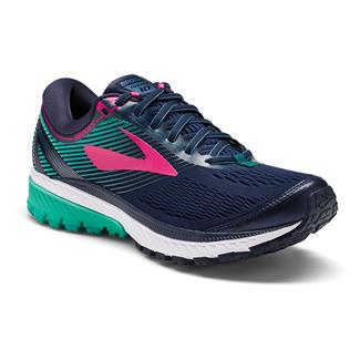 Brooks Ghost 10 Navy / Pink / Teal Green