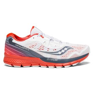 Saucony Zealot ISO 3 White / Gray / ViZi Red