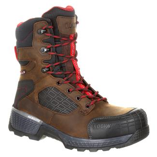 "Rocky 8"" Treadflex CT WP Distress Brown"