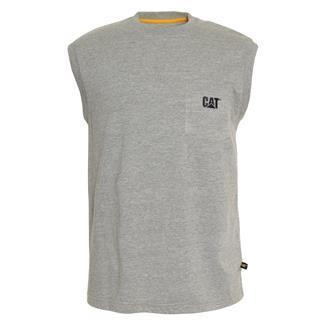 CAT Trademark Sleeveless Pocket T-Shirt Heather Gray