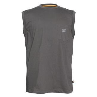 CAT Trademark Sleeveless Pocket T-Shirt Dark Shadow