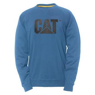 CAT Lightweight Crewneck Sweatshirt Cool Blue
