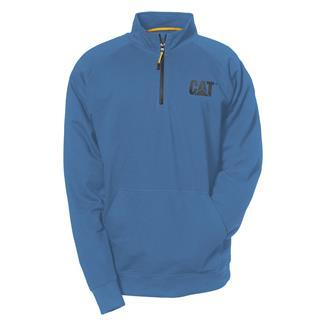 CAT Lightweight 1/4 Zip Sweatshirt Cool Blue
