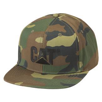 CAT Sheridan Flat Bill Cap Woodland Camo