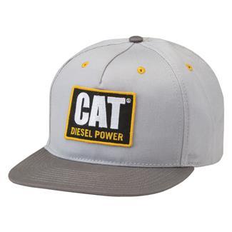 CAT Diesel Power Flat Bill Hat Light Gray