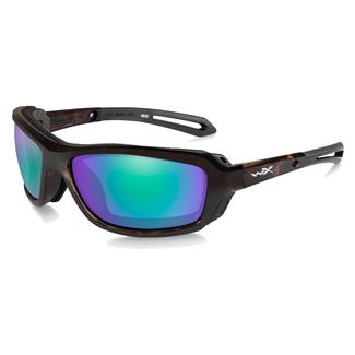 Wiley X WX Wave Gloss Demi (frame) - Polarized Emerald Mirror (lens)