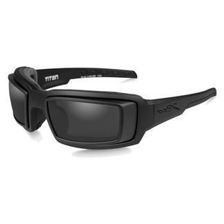 Wiley X WX Titan Matte Black (frame) - RX Rim / Smoke Gray (lens)