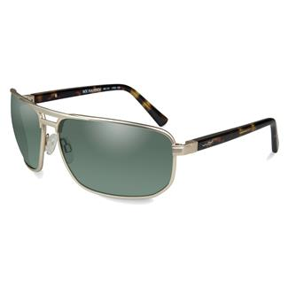 Wiley X WX Hayden Satin Gold (frame) - Polarized Green (lens)