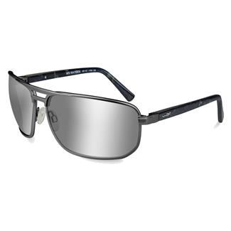 Wiley X WX Hayden Matte Dark Gunmetal (frame) - Polarized Silver Flash (lens)