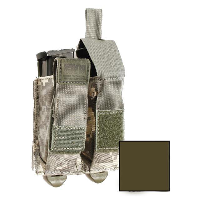 Blackhawk STRIKE Double Pistol Mag Pouch w/ TalonFlex Olive Drab