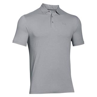 Under Armour Charged Cotton Scramble Polo True Gray Heather / Steel