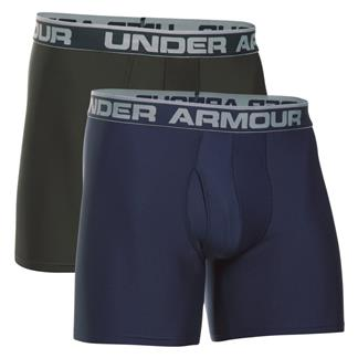 "Under Armour Original Series 6"" Boxerjock Boxers (2 Pack) Midnight Navy / Artillery Green"