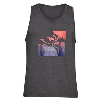 Under Armour Freedom Eagle Tank Charcoal Medium Heather / Red