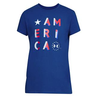 Under Armour Freedom America T-Shirt Royal / White