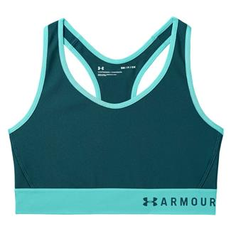 Under Armour Mid Keyhole Bra Tourmaline Teal AFS / Deprecated / Tropical Tide