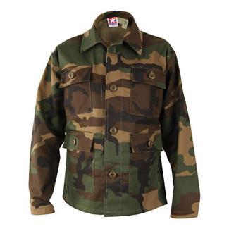 Kids' Propper Nylon / Cotton Twill BDU Coats Woodland Camo