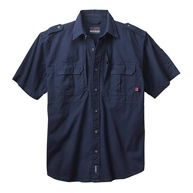 Woolrich Elite Short Sleeve Shirt Navy
