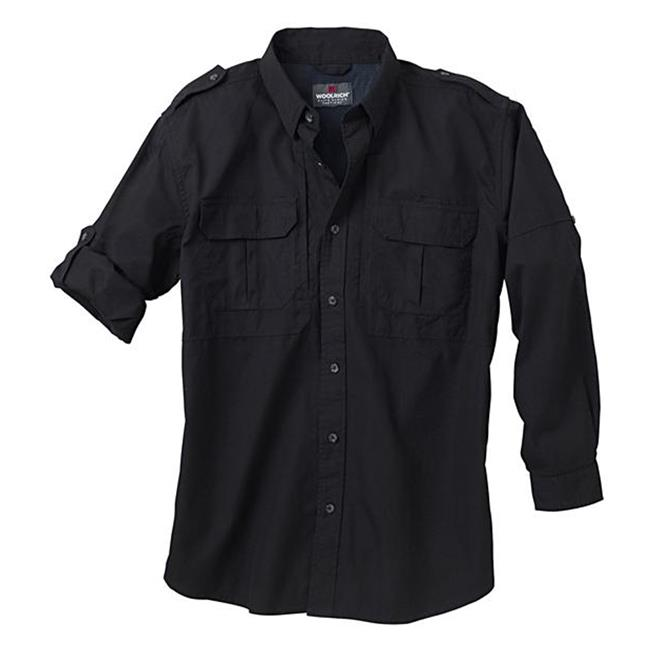 Woolrich Elite Long Sleeve Shirt Black