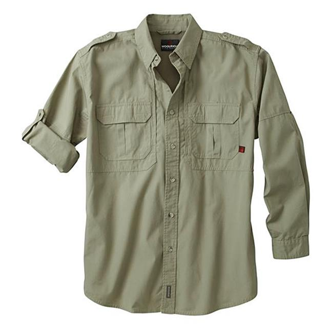 Woolrich Elite Long Sleeve Shirt Sage Green