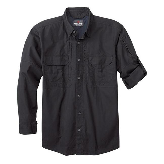 Woolrich Elite Long Sleeve Operator Shirt Black