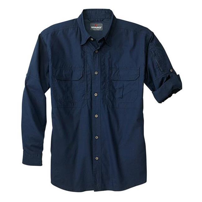 Woolrich Elite Long Sleeve Operator Shirt Navy
