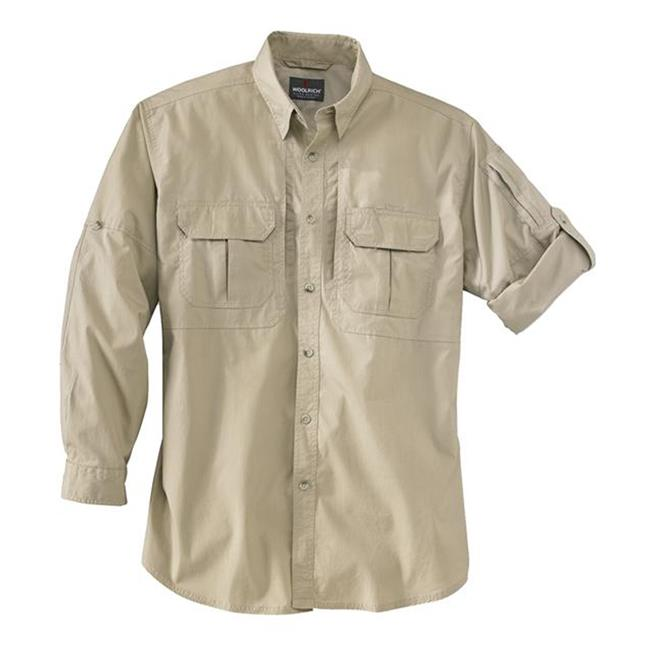 Woolrich Elite Long Sleeve Operator Shirt Khaki