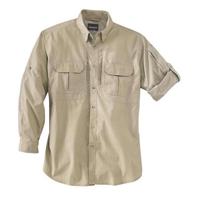 Woolrich Elite Long Sleeve Operator Shirt Khaki