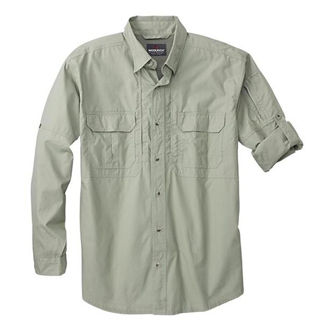 Woolrich Elite Long Sleeve Operator Shirt Sage Green