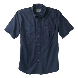 Woolrich Elite Short Sleeve Operator Shirt Navy