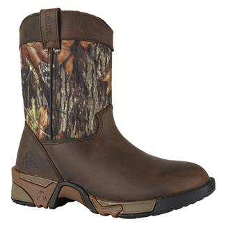 Kid's Rocky Aztec Wellington Brown / Mossy Oak