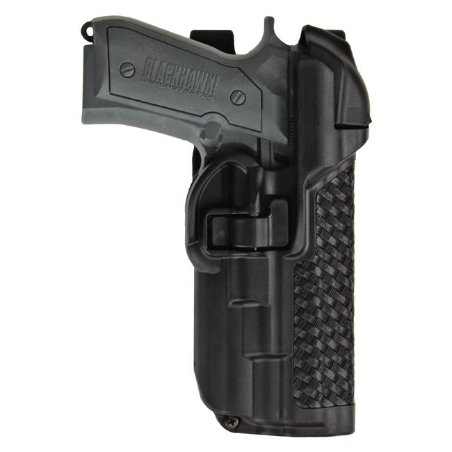 Blackhawk SERPA Level 3 Light Bearing Duty Holster Black Basket Weave