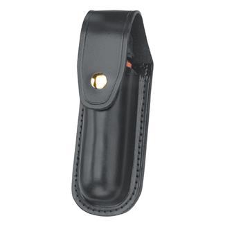 Gould & Goodrich Leather Aerosol Case with Brass Hardware Plain Black