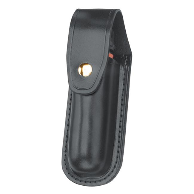Gould & Goodrich Leather Aerosol Case with Brass Hardware Black Plain