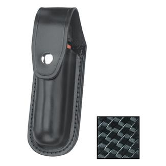 Gould & Goodrich Leather Aerosol Case MK III with Nickel Hardware Black Basket Weave