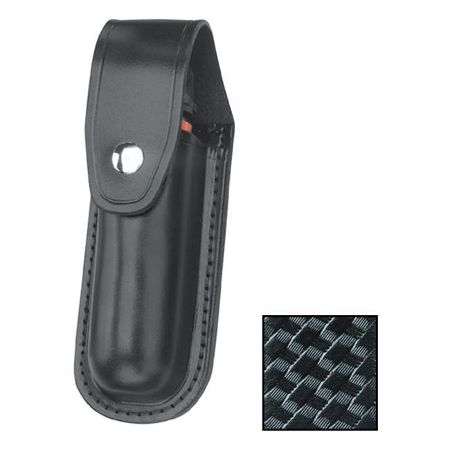 Gould & Goodrich Leather Aerosol Case MK III with Nickel Hardware Basket Weave Black