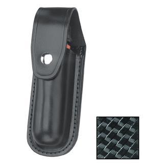 Gould & Goodrich Leather Aerosol Case MK IV with Nickel Hardware Basket Weave Black
