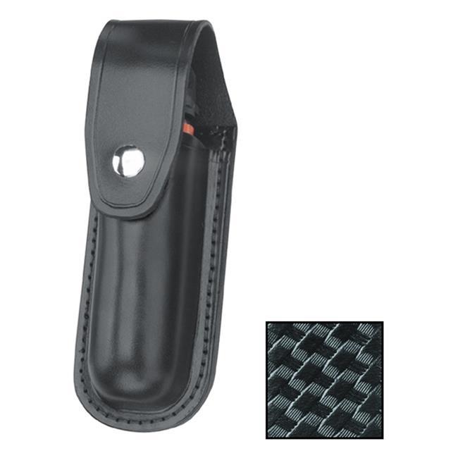 Gould & Goodrich Leather Aerosol Case MK IV with Nickel Hardware Black Basket Weave