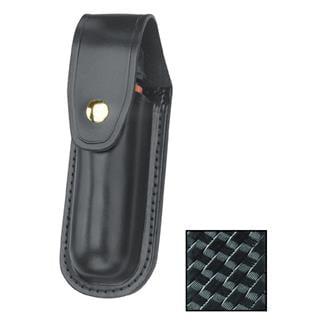 Gould & Goodrich Leather Aerosol Case MK IV with Brass Hardware Basket Weave Black