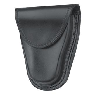 Gould & Goodrich Hinged Handcuff Case with Hidden Snap Plain Black