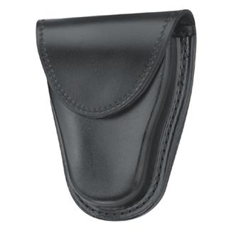 Gould & Goodrich Hinged Handcuff Case with Hidden Snap Black Hi-Gloss