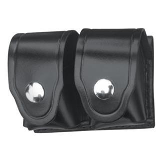 Gould & Goodrich Leather Speedloader Case with Nickel Hardware Black Leather