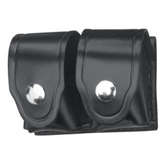 Gould & Goodrich Leather Speedloader Case with Nickel Hardware Hi-Gloss Black