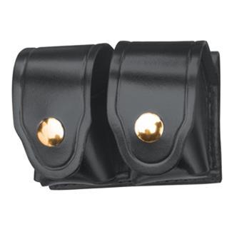 Gould & Goodrich Leather Speedloader Case with Brass Hardware Black Leather