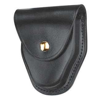 Gould & Goodrich ASP and Hiatt Handcuff Case with Brass Hardware Plain Black