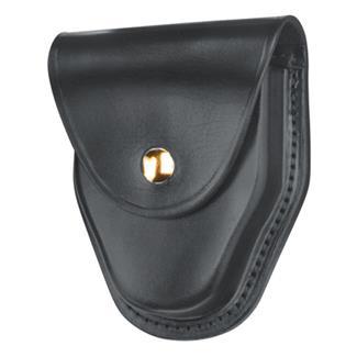 Gould & Goodrich ASP and Hiatt Handcuff Case with Brass Hardware Black Hi-Gloss
