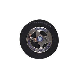 Gould & Goodrich Clip-On Round Badge Holder Black Plain