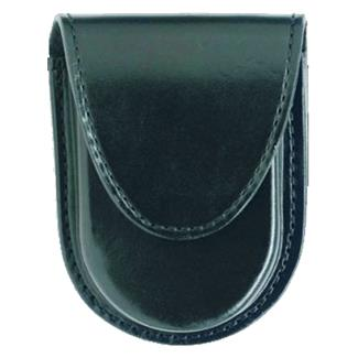 Gould & Goodrich Round Bottom Handcuff Case with Hidden Snap Black Hi-Gloss