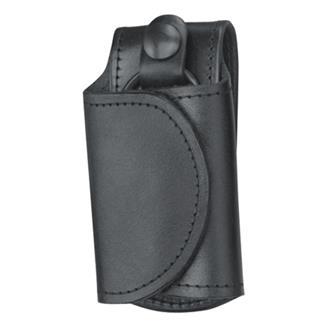 Gould & Goodrich Leather Slient Key Holder Black Plain