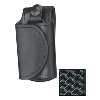 Gould & Goodrich Leather Slient Key Holder Basket Weave Black