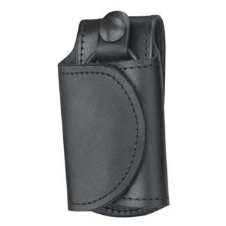 Gould & Goodrich Leather Slient Key Holder Black Hi-Gloss
